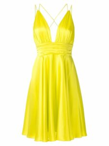 Tufi Duek silk short dress - Yellow