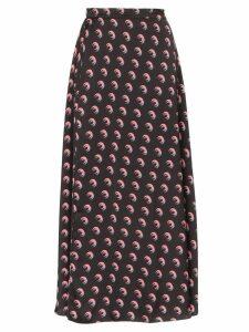 Marine Serre Moon Shadow print midi skirt - Black
