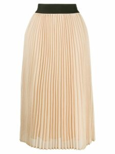 Edward Achour Paris pleated midi skirt - Yellow