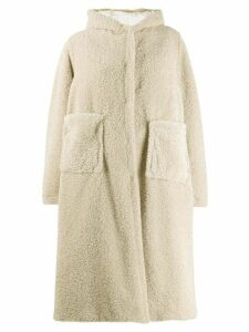 Forte Forte hooded oversized coat - Neutrals