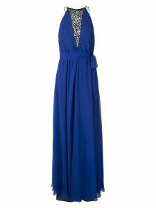 Tufi Duek lace panels silk gown - Blue