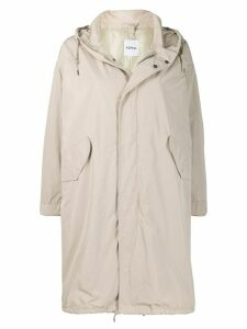 Aspesi loose fit parka coat - Neutrals