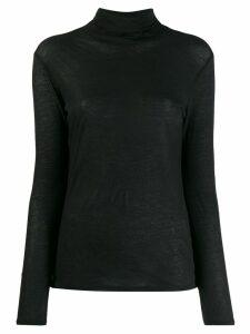 Zucca light-weight knitted jumper - Black