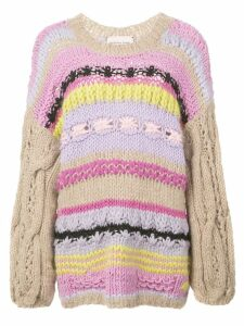 Natasha Zinko striped knitted jumper - Multicolour