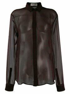 Saint Laurent polka dots shirt - Black