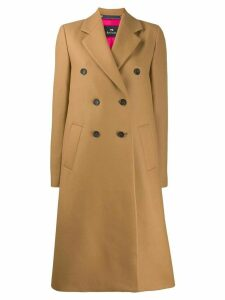PS Paul Smith double breasted coat - Brown