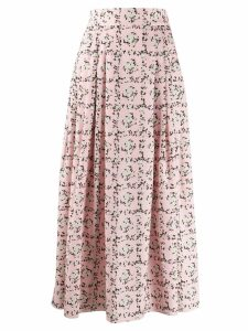 Emilia Wickstead Square Rose print skirt - Pink