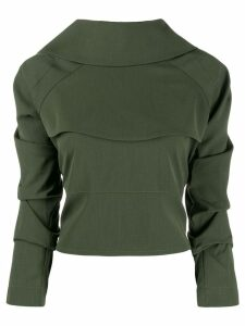 A.W.A.K.E. Mode ruched sleeve top - Green