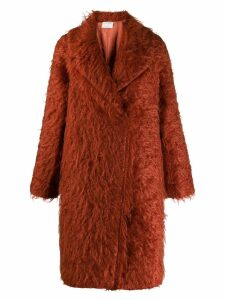 Forte Forte textured furry coat
