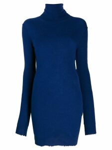 Unravel Project knitted roll neck dress - Blue