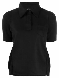 Rochas pointed collar knitted top - Black