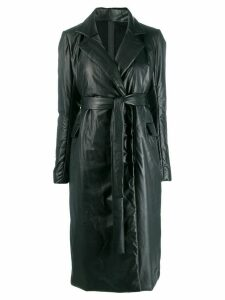 Isaac Sellam Experience belted down coat - Black