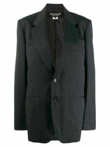 Junya Watanabe oversized pinstripe blazer - Grey