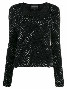 Emporio Armani ribbed jacket - Black