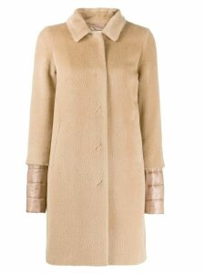 Herno padded wool coat - NEUTRALS
