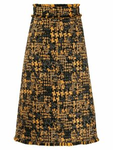 Dolce & Gabbana A-line tweed skirt - Yellow
