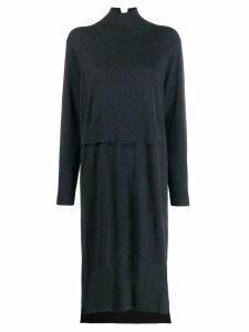 Zucca layered knitted dress - Grey