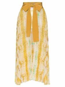 Silvia Tcherassi Blanche belted tie dye skirt - Yellow