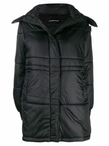 Emporio Armani single-breasted hooded coat - Black