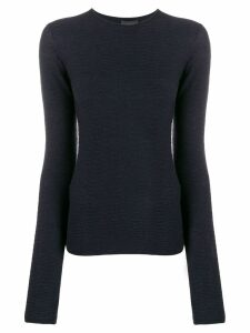 Emporio Armani long-sleeve fitted top - Blue