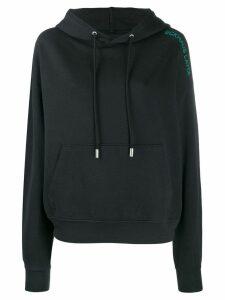 Eckhaus Latta embroidered logo hoodie - Black