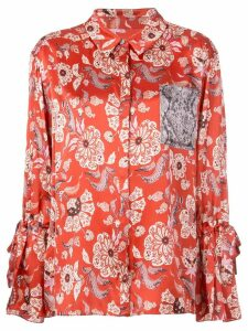 Cinq A Sept Elisia silk top - Pink