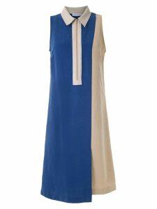 Mara Mac bicolor midi dress - Blue