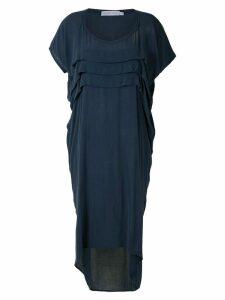 Mara Mac draped midi dress - Blue