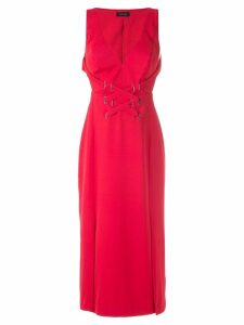 Tufi Duek crossed straps midi gown - Red