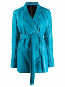 Isaac Sellam Experience belted waist blazer - Blue