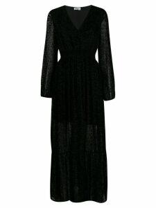 LIU JO animal print maxi dress - Black