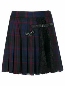 Liu Jo tartan pleated skirt - Blue