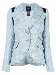 Smythe chevron single-breasted blazer - Blue