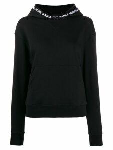 Karl Lagerfeld kangaroo pocket hoodie - Black