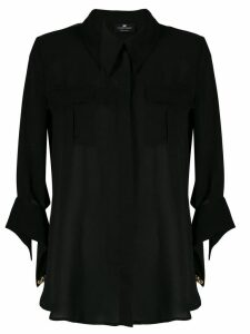 Elisabetta Franchi chest pocket shirt - Black