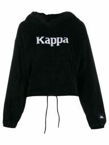 Kappa logo embroidered hooded sweatshirt - Black