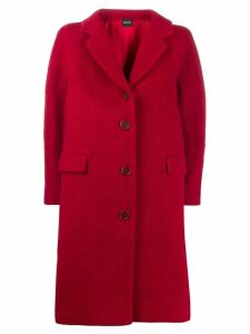 Aspesi paneled single breasted coat - Red