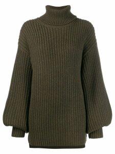 Les Coyotes De Paris cable knit jumper - Green