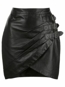 Altuzarra Nandi leather buckled skirt - Black