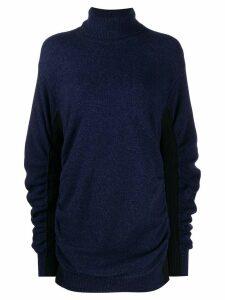 Mm6 Maison Margiela ruched roll-neck jumper - Blue