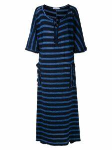 Mara Mac striped maxi dress - Black