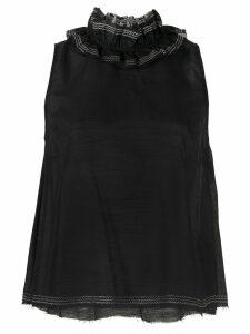 Aje embroidered Billford top - Black
