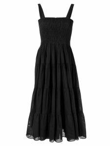 Aje flared ruched dress - Black