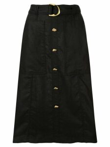 Aje Helena belted midi skirt - Black