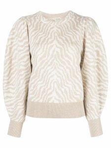 Ulla Johnson Massey zebra-jacquard jumper - Neutrals