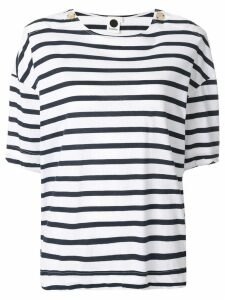 Bassike striped T-shirt - White