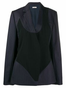 Nina Ricci pinstripe bodysuit blazer - Blue