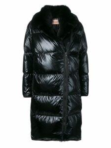 Yves Salomon fur-trimmed puffer coat - Black
