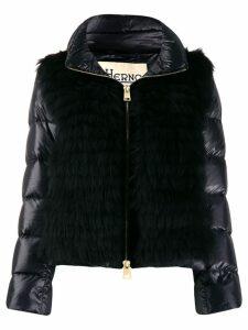 Herno contrast padded jacket - Black