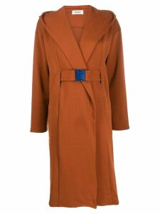 Zucca belted coat - Brown